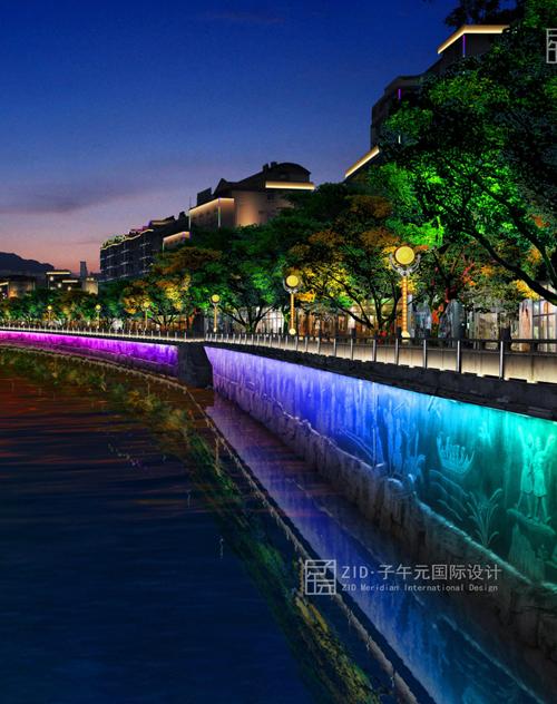 田林县一江两岸夜景