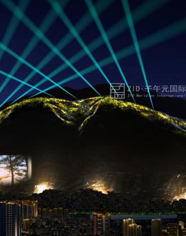 陇南市北山灯光